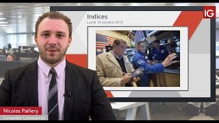 DOW JONES INDUSTRIAL AVERAGE Bourse - DOWJONES, tiré par les espoirs d'un accord commercial et la Fed - IG 15.10.2019