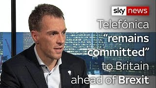 "TELEFONICA Telefónica ""remains committed"" to Britain ahead of Brexit"