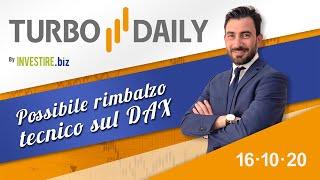DAX30 PERF INDEX Turbo Daily 16.10.2020 - Possibile rimbalzo tecnico sul DAX