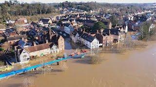 England: Überschwemmungen im Westen