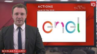 ENEL Bourse - Action Enel, en direction de 4,21€ - IG 30.05.2016