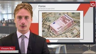 EUR/USD Bourse - EURUSD, forte volatilité attendue dans la journée - IG 23.08.2019