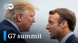 G7 summit 2019: Trump at odds with Macron over Iran? | DW News