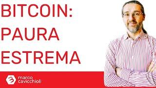 BITCOIN Estrema paura per bitcoin e criptovalute (ma potrebbero risalire)