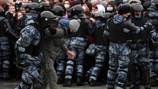 Puschkin-Platz in Moskau: Kundgebung für Nawalny