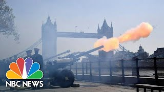 Queen Elizabeth II's 93rd Birthday Honored With Cannon Blasts | NBC News