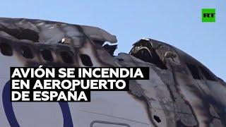 BOEING COMPANY THE Se incendia un Boeing 747 averiado en el aeropuerto de Castellón