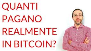 BITCOIN Quanti pagano REALMENTE in bitcoin? ft. Maurizio Mischi