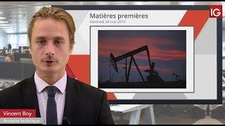 WTI CRUDE OIL Bourse - WTI, au plus bas depuis début mars - IG 24.05.2019