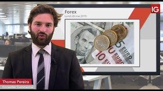 EUR/USD Bourse - EURUSDtoujours dans un biseau baissier, plombé par le Brexit - IG 20.05.2019
