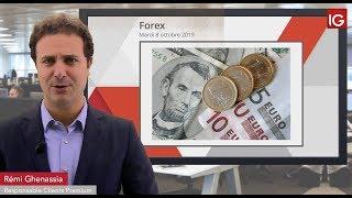EUR/USD Bourse - EURUSD, l'euro profite des mauvais chiffres américain - IG 08.10.2019