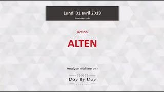 ALTEN Action Alten : sortie de rectangle - Flash Analyse IG 01.04.2019