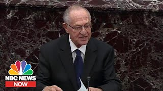 Dershowitz Acknowledges Changing Position On Impeachment Over 'Criminal-Like Conduct' | NBC News NOW