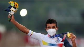 GOLD - USD ¡Oro para Ecuador! El ecuatoriano Richard Carapaz campeón olímpico de ciclismo en ruta