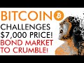 Bitcoin - Challenging $7,000 or Will Crumbling Bond Market Bring Big Price TROUBLE?