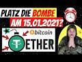 NOCH 2 TAGE! Platzt die TETHER BOMBE am 15 JANUAR? Bitcoin Bullish? Ripple vs SEC UPDATE & News