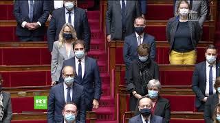Minute de silence à l'Assemblée nationale après l'attaque au couteau de Nice