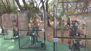 INNOVA Gimnasio de Brasilia innova con clases de spinning al aire libre