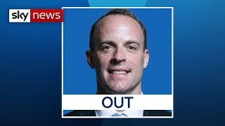 Dominic BREAKING NEWS: Dominic Raab out of Tory leadership race