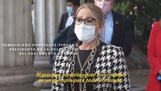 Eurodiputados ven como un ejemplo el proceso constituyente chileno