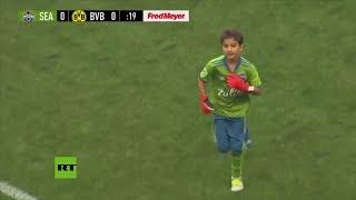 BORUSSIA DORTMUND Niño con leucemia juega contra el Borussia Dortmund en Washington