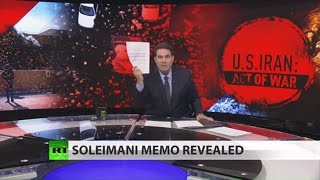 Trump memo to Congress on Soleimani revealed