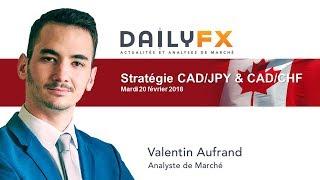 CAD/CHF Point de marché du jour : Stratégie haussière CAD/JPY et CAD/CHF