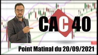 CAC40 INDEX CAC 40 Point Matinal du 20-09-2021 par boursikoter