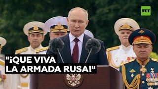 """Putin: """"La Armada rusa tiene todo lo necesario para garantizar la defensa"""""""