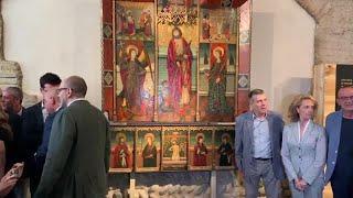LLEIDA Torra presenta un retablo gótico cedido al Museu de Lleida