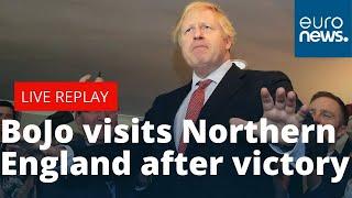 LIVE: Boris Johnson visits Northern England after election victory