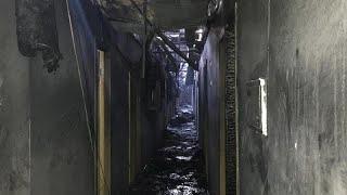 Ukraine hotel fire: Eight people killed in blaze at Tokyo Star in Odessa