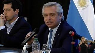 """El Presidente reafirmó su """"compromiso a cumplir en los próximos 2 años"""" con lo prometido por el FdT"""