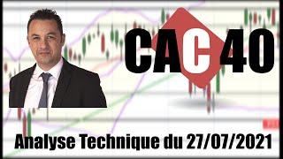 CAC40 INDEX CAC 40   Analyse technique du 27-07-2021 par boursikoter