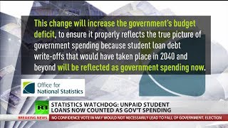Statistics watchdog: Unpaid student loans now counted as government spending