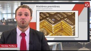 GOLD - USD Bourse   GOLD, pause depuis quelques jours   IG 02 09 2019