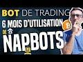 BOT DE TRADING BITCOIN : 6 mois d'utilisation de NapBots