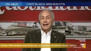 """La battuta di Marco Travaglio: """"I governi hanno un'anima? L'anima de li mortacci... come dicono ..."""