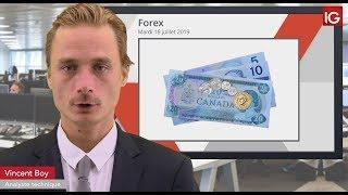USD/CAD Bourse -USDCAD, le dollar sous surveillance - IG 16.07.2019
