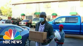 Americans In Need Form Long Lines At Nation's Food Banks | NBC Nightly News