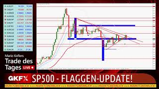 S&P500 INDEX Trade des Tages LIVE - SP500 Flaggenupdate