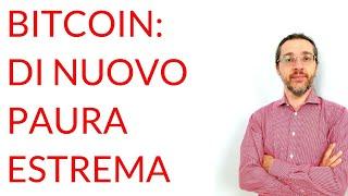 """BITCOIN Bitcoin: è tornata la """"paura estrema"""""""