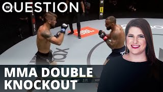 Double knockouts in MMA bantamweight fight