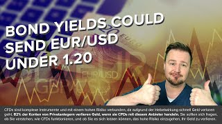 EUR/USD Bond yields could send EUR/USD under 1.20