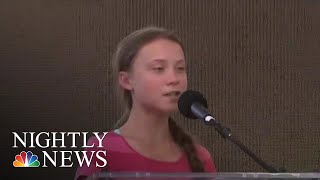 Teen Activist Greta Thunberg Leads Global Climate Protest | NBC Nightly News