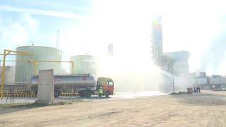 ERCROS Simulacro de emergencia química en la fábrica Ercros Almussafes