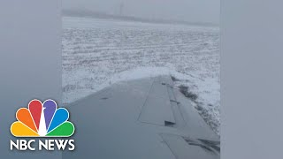 AMERICAN AIRLINES GROUP INC. American Airlines Flight Slides On Icy O'Hare Runway | NBC News