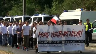 NEO Activists and neo-Nazis clash in Berlin demonstration