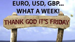 EUR/USD Grandes movimentos da semana em Eur, USD, GBP