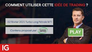 WTI CRUDE OIL 📣 Idée de trading turbo du 02 février 2021 - Pétrole WTI LONG